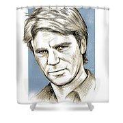 Richard Dean Anderson Color Shower Curtain