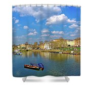 Richmond Upon Thames - Panorama Shower Curtain