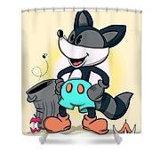Ricky Raccoon  Shower Curtain