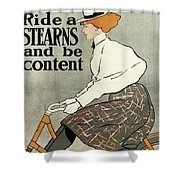 Ride A Stearns And Be Content, Circa 1896 Shower Curtain