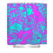 Riding Retro Routes Shower Curtain