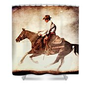 Riding The Light Shower Curtain