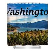 Riffe Lake, Washington Shower Curtain