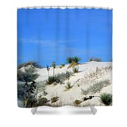Rippled Sand Dunes In White Sands National Monument, New Mexico - Newm500 00106 Shower Curtain