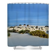 Rippled Sand Dunes In White Sands National Monument, New Mexico - Newm500 00114 Shower Curtain