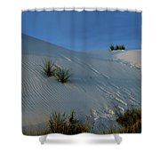 Rippled Sand Dunes In White Sands National Monument, New Mexico - Newm500 00118 Shower Curtain