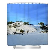 Rippled Sand Dunes In White Sands National Monument, New Mexico - Newm500 00119 Shower Curtain