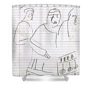 Rite Of Spring Lined 6b Shower Curtain