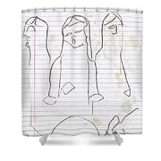 Rite Of Spring Lined 7b Shower Curtain