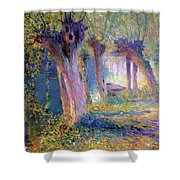 River Epte Giverny 1910  Shower Curtain