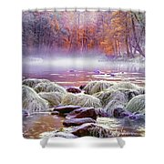 River In Yosemite Shower Curtain
