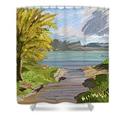 River Ode Shower Curtain