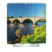 River Tay, Dunkeld, Perthshire Shower Curtain