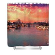 River Thames At Molesey Shower Curtain