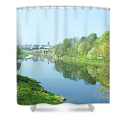 river tweed at Coldstream Shower Curtain