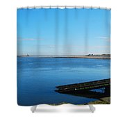 River Tweed Estuaryto Spittal, Pier With Lighthouse And Chimney Shower Curtain