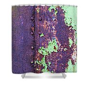 Rivets Rust And Paint Shower Curtain