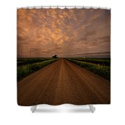 Road To Huron  Shower Curtain