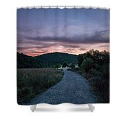 Road To Sunset Shower Curtain