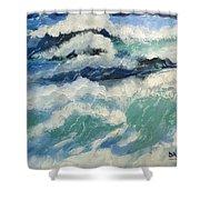 Roaring Ocean Shower Curtain