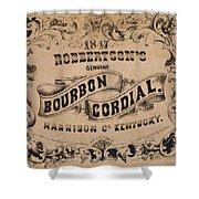Robbertson's Kentucky Bourbon Cordial Ad C. 1857 Shower Curtain