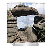 Rock Gate In The Nature Reserve Broumov Walls Shower Curtain
