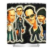 Rock N' Roll Warriors - U2 Shower Curtain