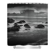 Rocks In The Storm Shower Curtain