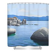 Rocky Cove On Lake Tahoe Shower Curtain