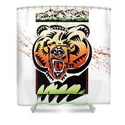 Rocky Mountain Grizzly Shower Curtain