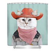 Rodeo Cat Shower Curtain