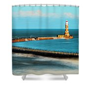 Roker Pier Shower Curtain