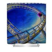 Roller Coaster Ocean City Md Shower Curtain by Paul Wear