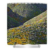 Rolling Hillsides In California - Vertical Shower Curtain
