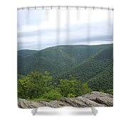 Rolling Mountains Shower Curtain