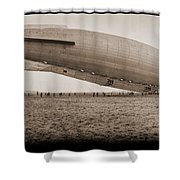 Roma Dirigible At Bolling Field Air Shower Curtain