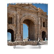 Roman Arched Entry Shower Curtain by Mae Wertz
