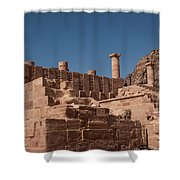Roman Temple In Petra Shower Curtain