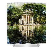 Rome, Ancient Temple Of Aesculapius - 04 Shower Curtain