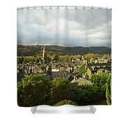 Rooftops Of Ambleside In Early Morning In The Lake District Shower Curtain