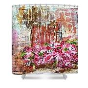 Rose Bundle With Copper Pot Shower Curtain