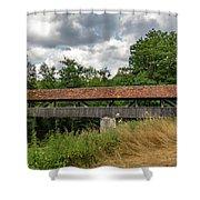 Rothenburg Covered Bridge Shower Curtain