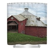 Round Barn - Mansonville, Quebec Shower Curtain