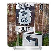 Route 66 - Kansas #1 Shower Curtain