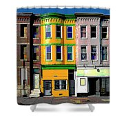 Row Houses Baltimore Shower Curtain