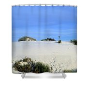 Rrippled Sand Dunes In White Sands National Monument, New Mexico - Newm500 00111 Shower Curtain