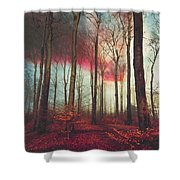 Ruby Red Evening Shower Curtain