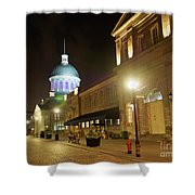 Rue Saint Paul In Old Montreal At Night Shower Curtain