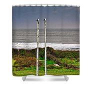 Rugby Goal - Hokitika - New Zealand Shower Curtain
