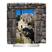 Ruins In Kotor, Montenegro Shower Curtain